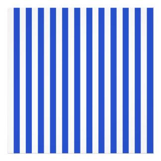 Rayas de la combinación del azul real de Shirley Fotografía