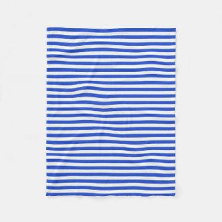 Rayas de la combinación del azul real de Shirley Manta De Forro Polar