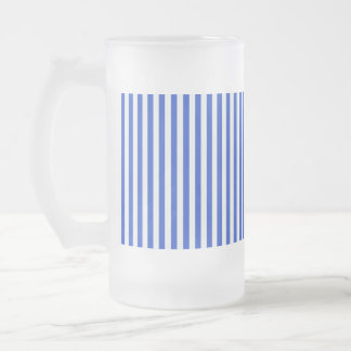 Rayas de la combinación del azul real taza de cristal