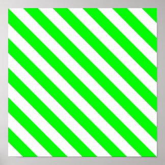 Rayas de la diagonal de la cal impresiones