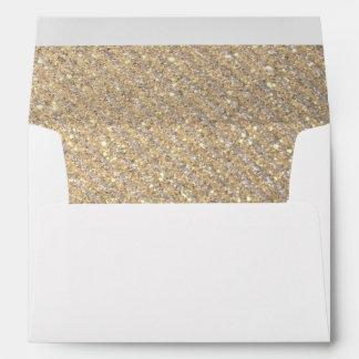 Rayas de la diagonal del oro y de la plata sobres