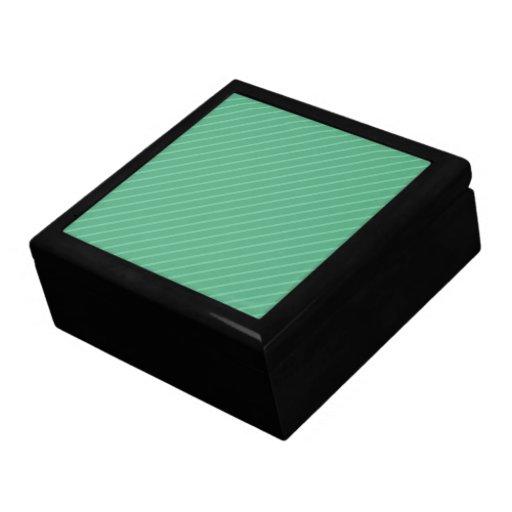 Rayas de la diagonal del verde de jade. Modelo Cajas De Joyas