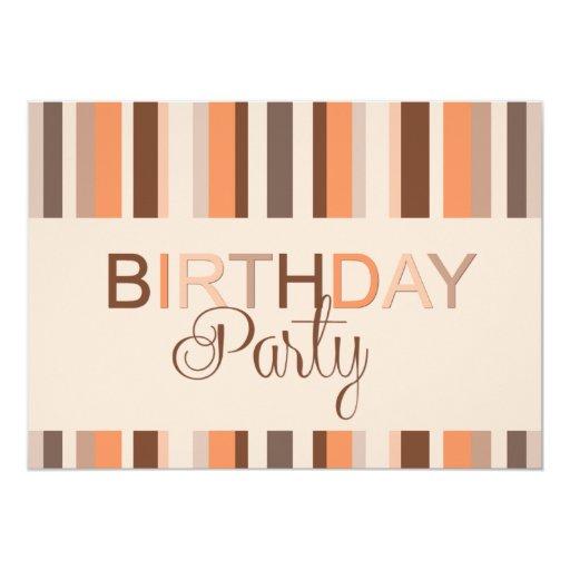 Rayas de la invitación de la fiesta de cumpleaños