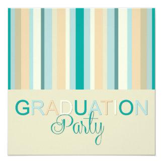 Rayas de la invitación del fiesta de la graduación