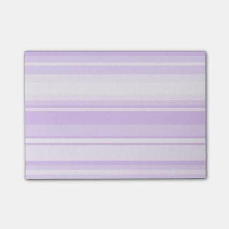 Rayas de la lila notas post-it®