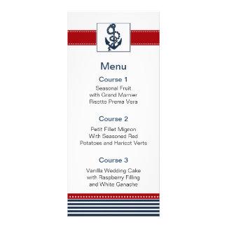 """rayas de la marina de guerra, ancla, tarjetas folleto publicitario 4"""" x 9"""""""