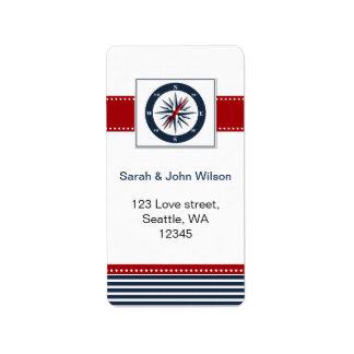 rayas de la marina de guerra compás etiquetas ná etiqueta de dirección