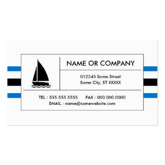 rayas de la navegación tarjetas personales