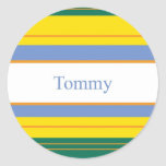Rayas de la obra clásica de Tommy Pegatina Redonda