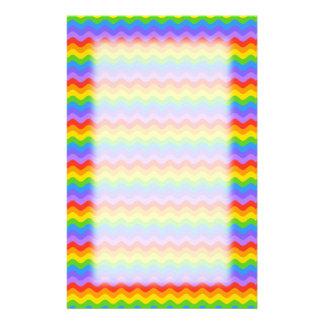Rayas de la onda del arco iris papeleria de diseño