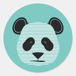 rayas de la panda pegatina redonda