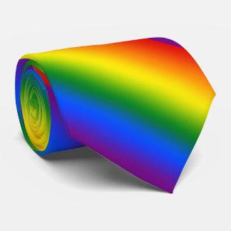 Rayas de la pendiente del arco iris corbata