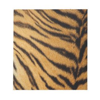 Rayas de la piel del tigre blocs de papel