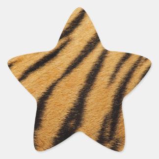 Rayas de la piel del tigre calcomanías forma de estrellas personalizadas
