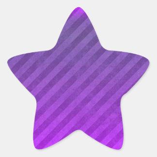 Rayas de la púrpura real calcomanía forma de estrella