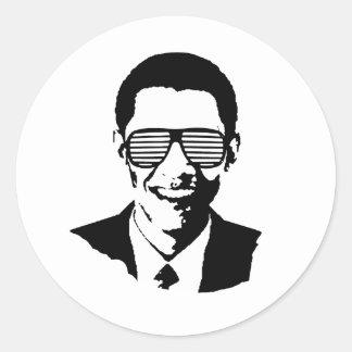 Rayas de las gafas de sol de Barack Obama Etiquetas