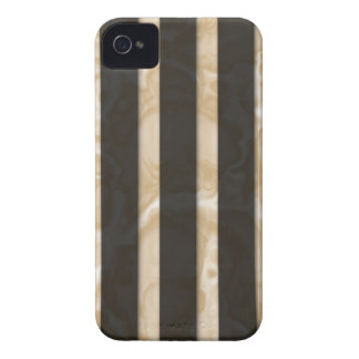 Rayas de Latte Case-Mate iPhone 4 Protectores