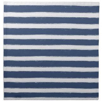 Rayas de los azules marinos y del blanco servilleta