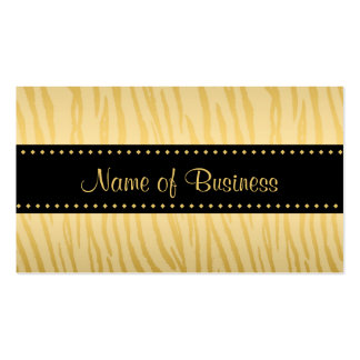 Rayas de lujo del tigre del negro y del oro tarjetas de visita