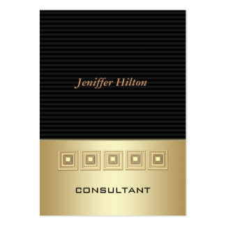 Rayas de lujo elegantes profesionales de oro tarjetas de visita