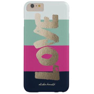 Rayas de lujo personalizadas del   funda barely there iPhone 6 plus