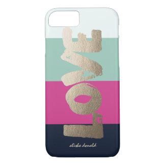 Rayas de lujo personalizadas del | funda iPhone 7