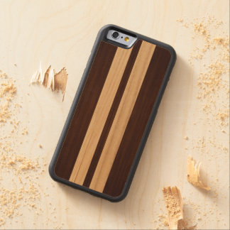 Rayas de madera oscuras del palo de rosa - mirada funda de iPhone 6 bumper arce