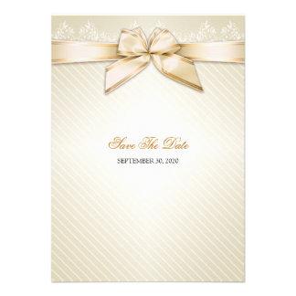 Rayas de marfil del oro de la cinta que casan rese