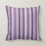 Rayas de moda Modelo-Púrpuras y blancas Cojines