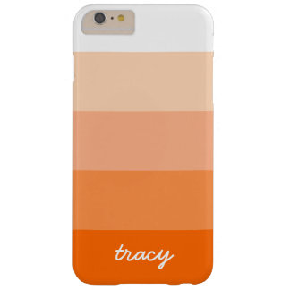 Rayas de moda modernas personalizadas funda barely there iPhone 6 plus