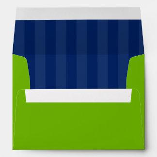 Rayas de muy buen gusto del verde y de azules mari