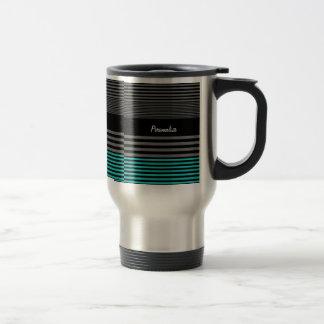 Rayas de muy buen gusto y frescas del trullo con n taza de café