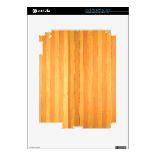 Rayas de oro hechas a mano del vintage - partido d iPad 2 skin