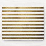 rayas de oro impresas del color alfombrilla de ratón