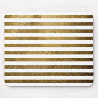 rayas de oro impresas del color tapetes de raton