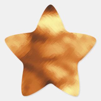 Rayas de oro pegatina forma de estrella personalizadas