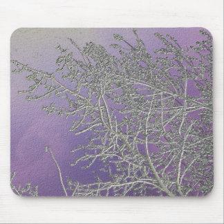 Rayas de plata afortunadas V5 de la púrpura n Alfombrillas De Ratones
