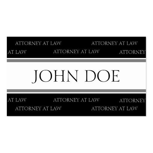 Rayas de plata del abogado - papel con membrete di tarjetas personales