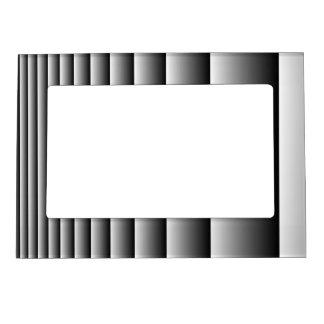 Rayas de plata negras marcos magnéticos de fotos