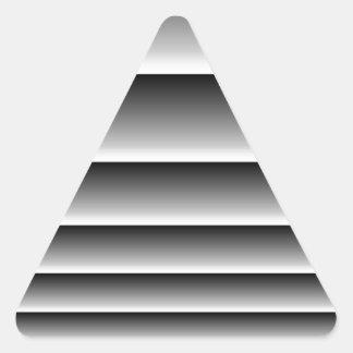 Rayas de plata negras pegatina triangular