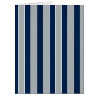 Rayas de plata y azules tarjeton