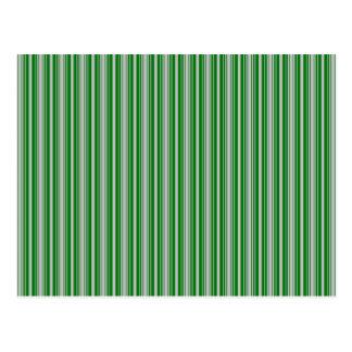 Rayas de plata y verdes del navidad postal