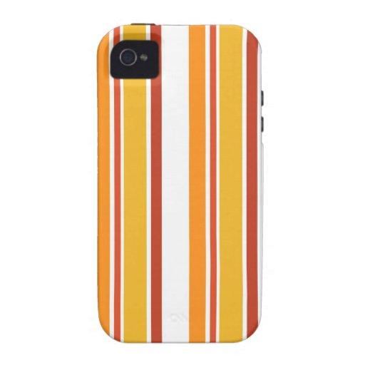 Rayas del amarillo, del naranja y del rojo iPhone 4/4S carcasa