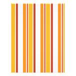 Rayas del amarillo, del naranja y del rojo membretes personalizados