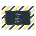 Rayas del amarillo y de los grises carbones plantilla de tarjeta de visita