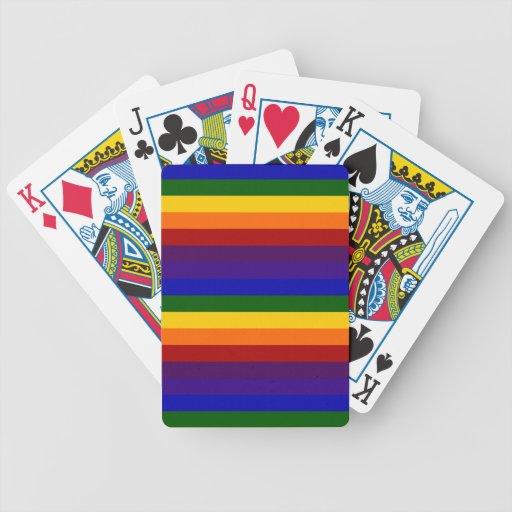 Rayas del arco iris barajas