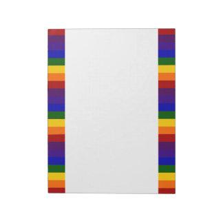 Rayas del arco iris blocs de papel