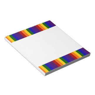Rayas del arco iris bloc de notas