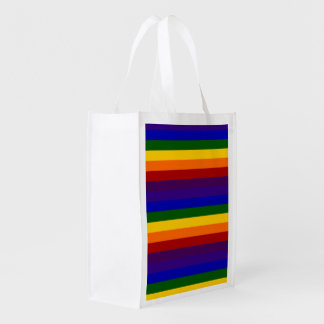 Rayas del arco iris bolsa de la compra