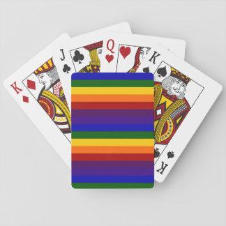 Rayas del arco iris cartas de póquer
